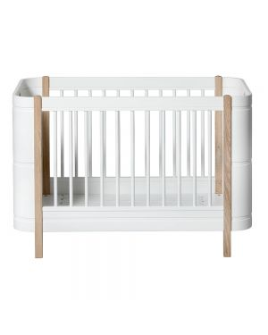 Oliver Furniture - Convertible Baby Cot Mini+ 68x122/162cm - White/Oak
