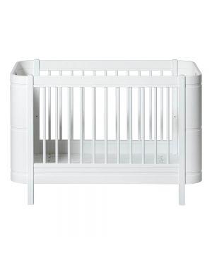 Oliver Furniture - Lit Bébé évolutif Mini+ 68x122/162 cm - Blanc