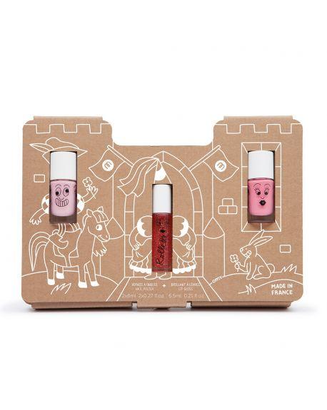 Nailmatic - Coffret vernis et brillant à lèvres - Story Princess