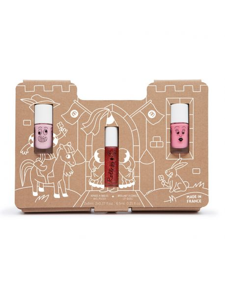 Nailmatic - Princess Story – nail polishes and lip gloss kids set