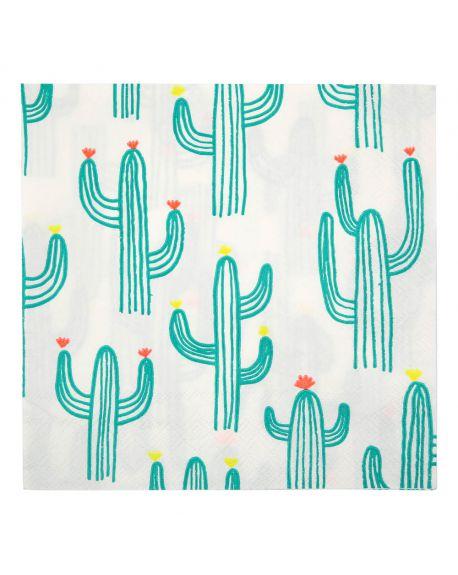 Meri meri - Serviettes en papier Cactus - Set de 20