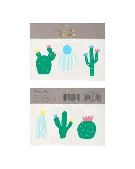 Meri Meri - Tatouages Cactus