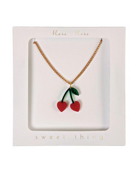 Meri Meri - Cherry Charm Necklace