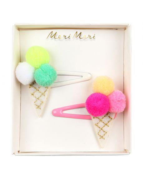 Meri meri - Pom Pom Ice Cream Hair Slides