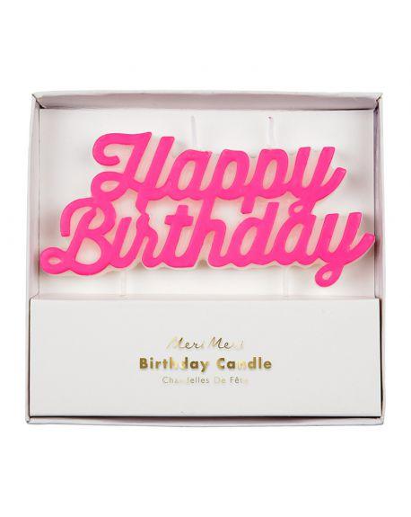 Meri Meri - Happy Birthday Candle