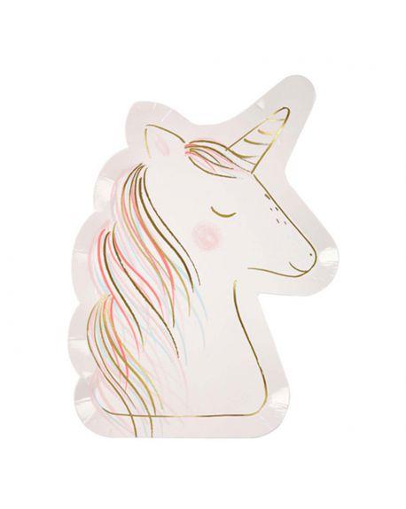 Meri Meri - Unicorn Large Plates