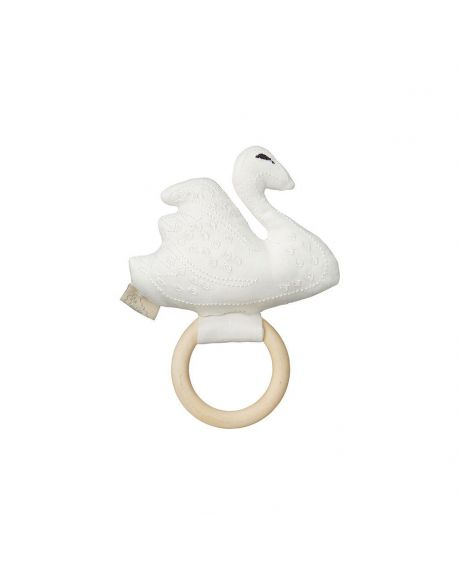 CAM CAM COPENHAGEN - Swan Rattle - Off white