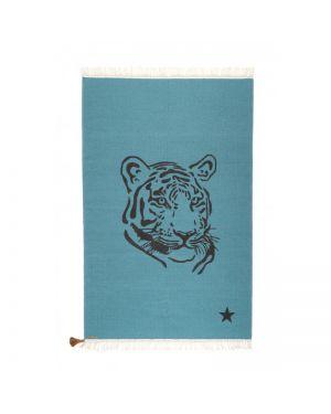 VARANASSI - Tiger Gypsy Rug 150 X 200 cm - Blue