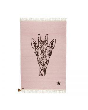 VARANASSI - Tapis Girafe Gypsy - Rose