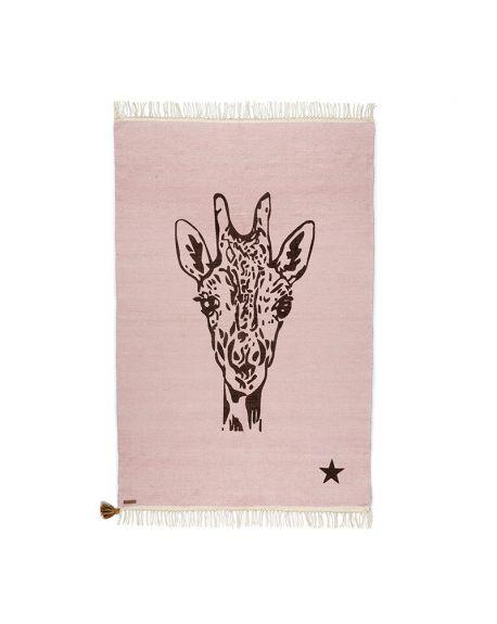 VARANASSI - Giraffe Gypsy Rug - Pink