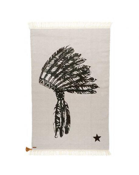 VARANASSI - Indian Gypsy Rug - Gris