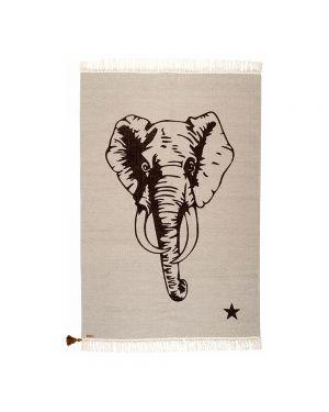 VARANASSI - Tapis Elephant Gypsy - Gris