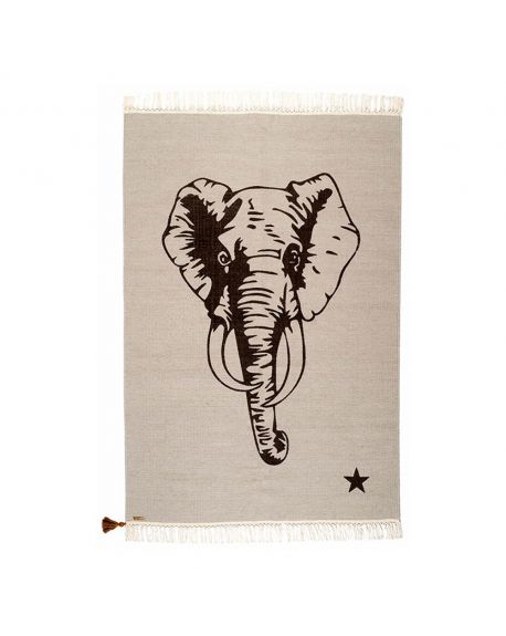 VARANASSI - Elephant Gypsy Rug - Gris