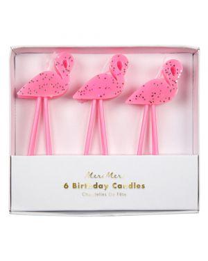 Meri Meri - Flamingo Candles