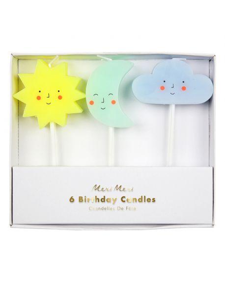 Meri Meri - Sun, Moon & Cloud Candles