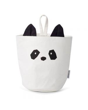 Liewood - Panier de Rangement en Coton Biologique - Panda