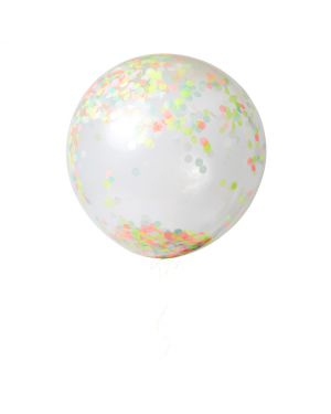 Meri Meri - 3 Ballons Géants à Confetti - Neon