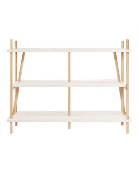 Harto - Library / Bookcase Simone 120cm - White