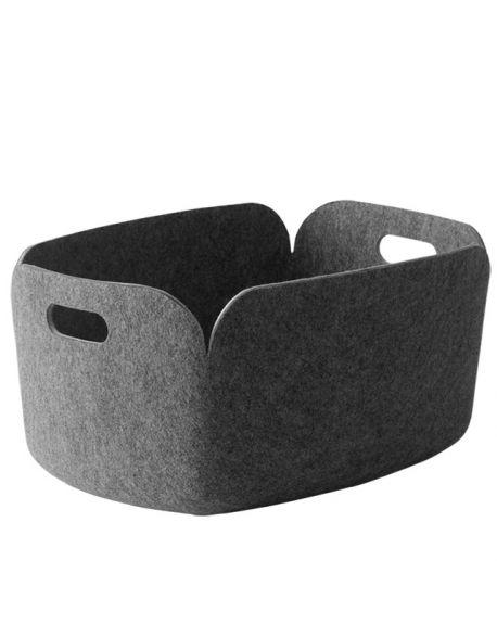MUUTO-RESTORE - DESIGN STORAGE BASKET - Grey