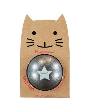 Ratatam - Ballon Gris Paillettes - 25 cm