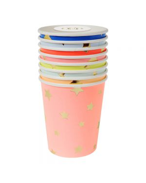 Meri Meri - Jazzy Star Paper Cups Multicoloured