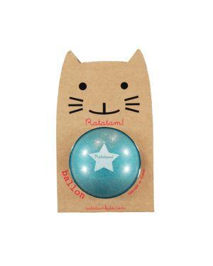 RATATAM - Ballon Bleu Paillettes - 15 cm