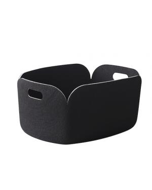 MUUTO RESTORE - Panier de Rangement Design - Noir