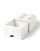 LEGO - BOITE DE RANGEMENT TIROIR - 4 plots / Blanche