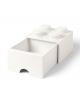 LEGO - STORAGE BOX DRAWER - 4 studs / White