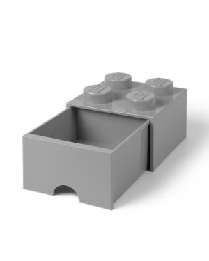 LEGO - STORAGE BOX DRAWER - 4 studs / Grey