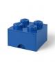LEGO - BOITE DE RANGEMENT TIROIR - 4 plots / BLEU