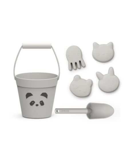 Liewood - Beach set - Panda dumbo grey