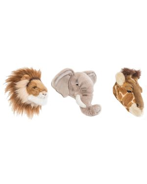 WILD & SOFT - Trophy in plush - mini safari
