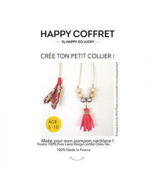 Happy Coffret - Crée ton petit collier pompon - DIY- Happy Go Lucky