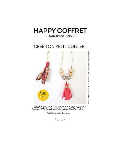 Happy Coffret - Crée ton petit collier pompon - DIY- Happy Go Lucky