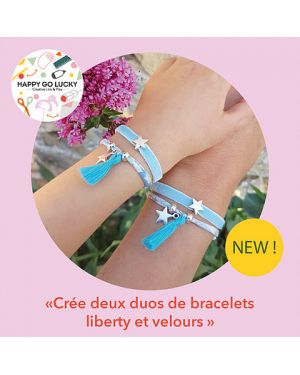 Happy Coffret - Crée deux duos de bracelets liberty et velours- DIY- Happy Go Lucky