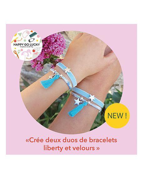 Happy Coffret - Crée deux duos de bracelets liberty et velours- DIY- Happy Go Lucky