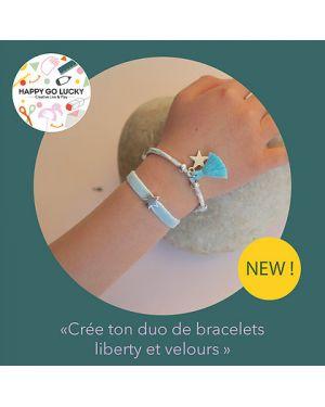Happy Coffret - Crée ton duo de bracelets liberty et velours- DIY- Happy Go Lucky