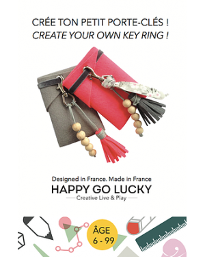 HAPPY GO LUCKY - Create your Key ring DIY
