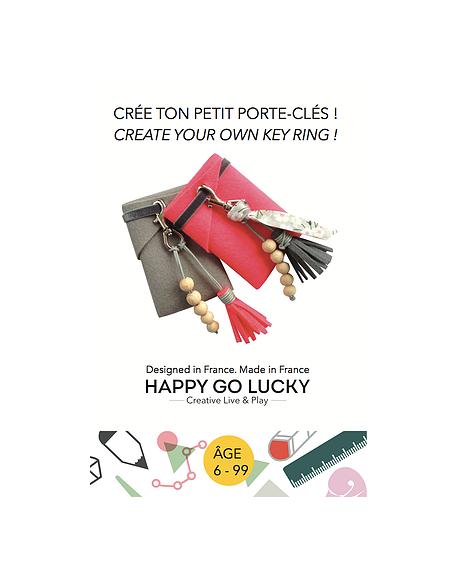 HAPPY GO LUCKY - Create your Key ring DIY