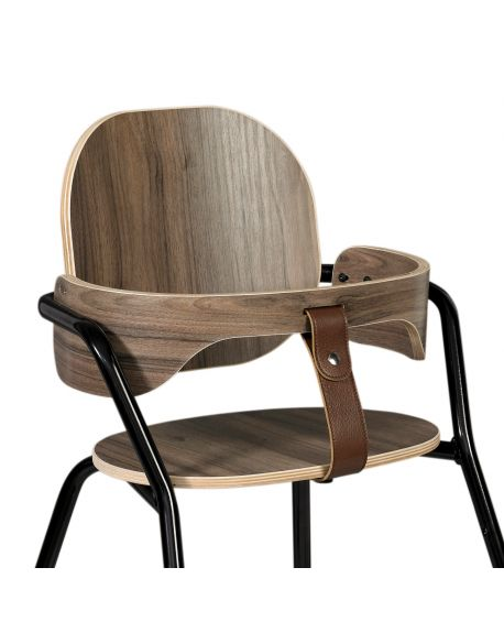 CHARLIE CRANE - Walnut Baby Set for TIBU Chair 'Black Edition'