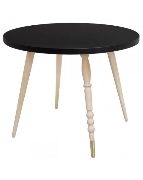 Jungle by jungle - Table d'appoint My Lovely Ballerine Ø 60 cm - Noir