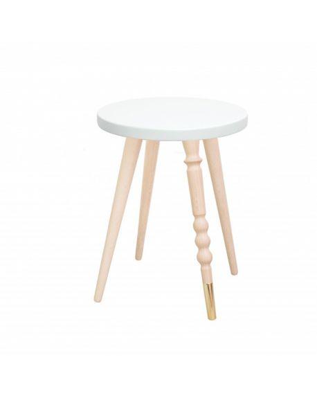 Jungle by jungle - Jungle by jungle - table d'appoint design - tabouret - chevet - My Lovely Ballerine - Hêtre - White