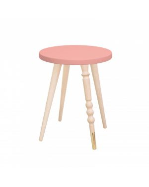 Jungle by jungle - table d'appoint design - tabouret - chevet - My Lovely Ballerine - Hêtre - Rose