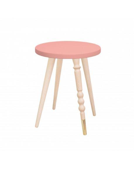 Jungle by jungle - table d'appoint design - tabouret - chevet - My Lovely Ballerine - Hêtre - Rose