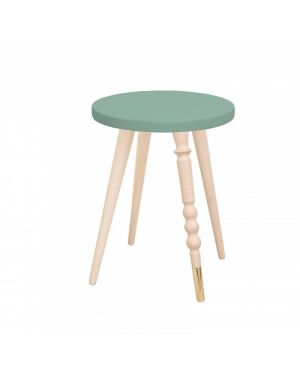 Jungle by jungle - Table d'appoint design - Tabouret - Chevet - My Lovely Ballerine - Hêtre - Vert