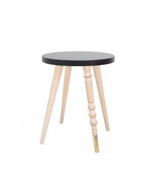 Jungle by jungle - Jungle by jungle - table d'appoint design - tabouret - chevet - My Lovely Ballerine - Hêtre - Black