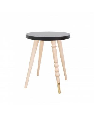 Jungle by jungle - table d'appoint design - tabouret - chevet - My Lovely Ballerine - Hêtre - Noir