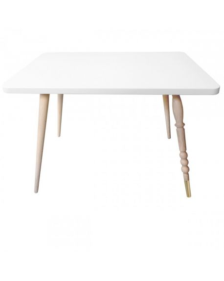 Jungle by jungle - Table Basse Rectangle Design My Lovely Ballerine - Hêtre - Blanc