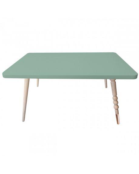 Jungle by jungle - Table Basse Rectangle Design My Lovely Ballerine - Hêtre - Vert Céladon